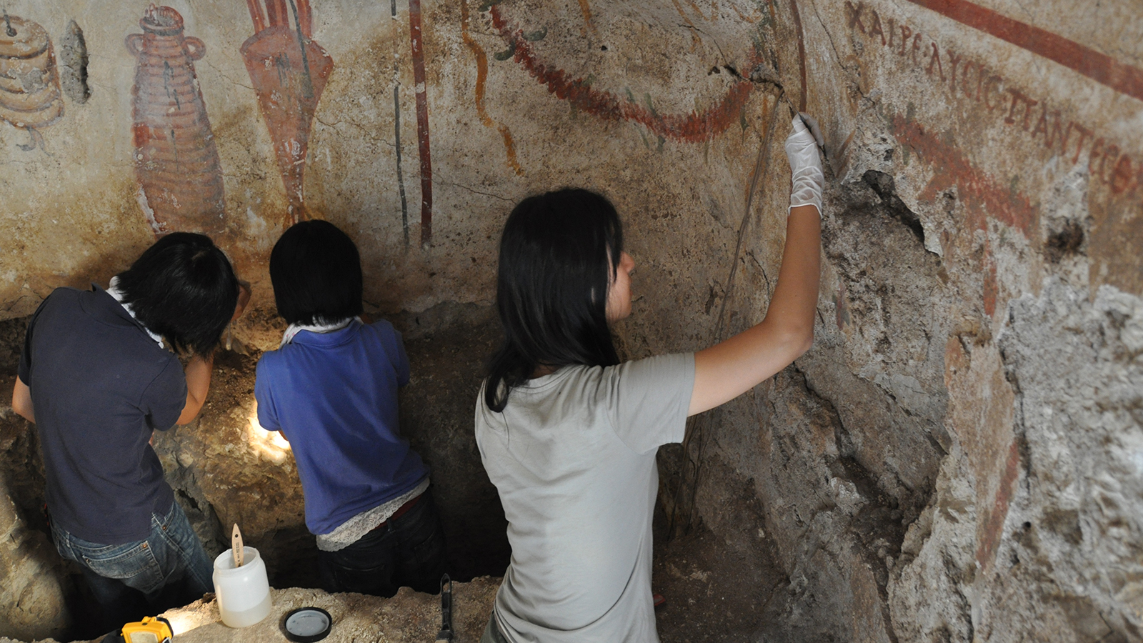 Restoration of Wall Paintings in a Tomb in the Republic of Lebanon